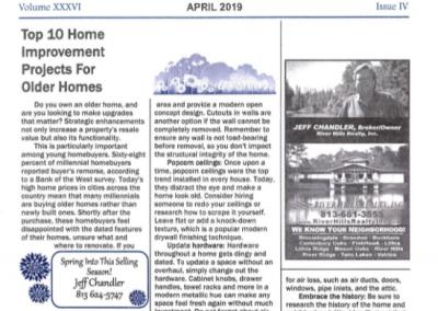 April Newsletter 2019